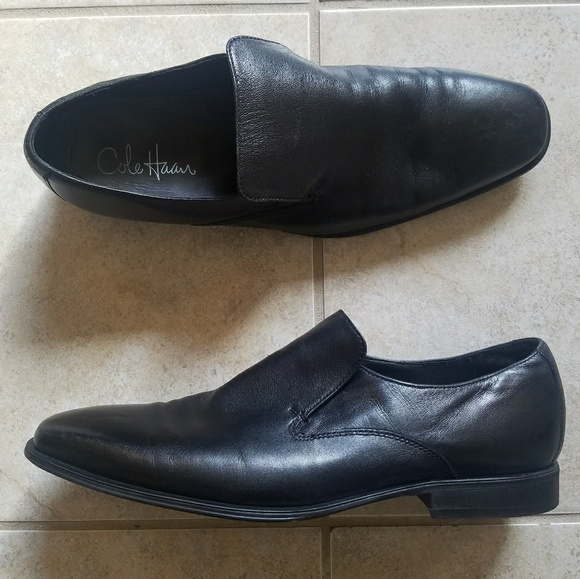 0e5b38547aee7 Vintage Cole Haan Leather Black Dress Shoes Loafer